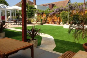 Artificiail grass Residential Landscaping in Dorset, Poole Hampshire and Bournemouth